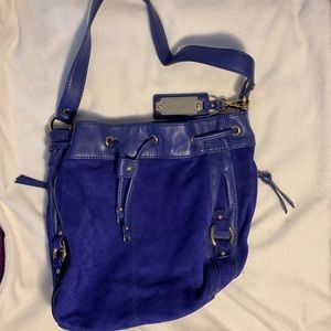 Tignanello NEW Blue suede bag, never used